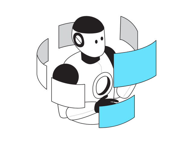 作業をするロボット