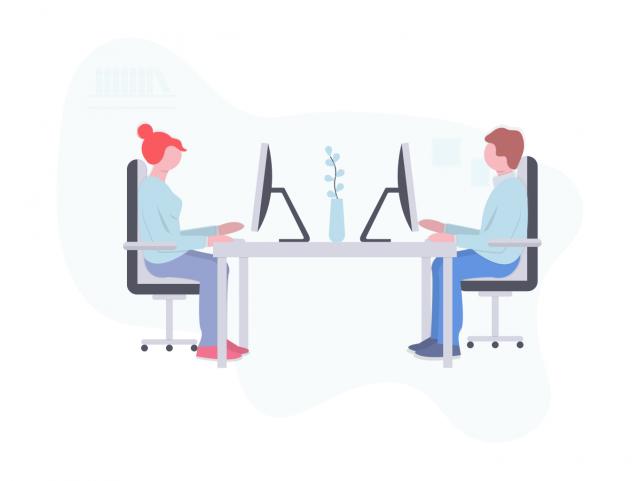 ブログ仲間と作業するブログ仲間